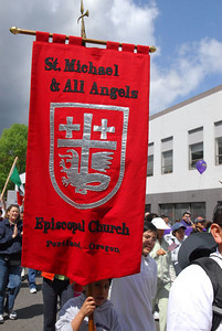 May Day 2006, including march and rally.