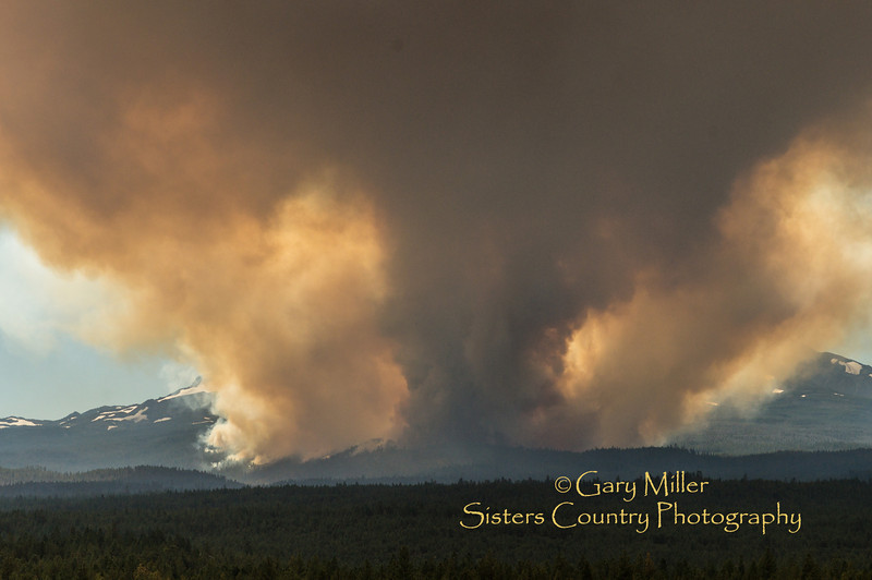 Pole Creek Fire - Sisters, Oregon - September 9, 2012 - Gary N. Miller - Sisters Country Photography