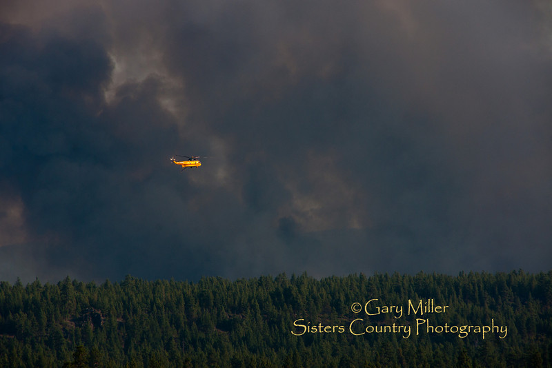 Rooster Rock Fire - Sisters, OR August 2 2010 - Gary Miller - Sisters Country Photography