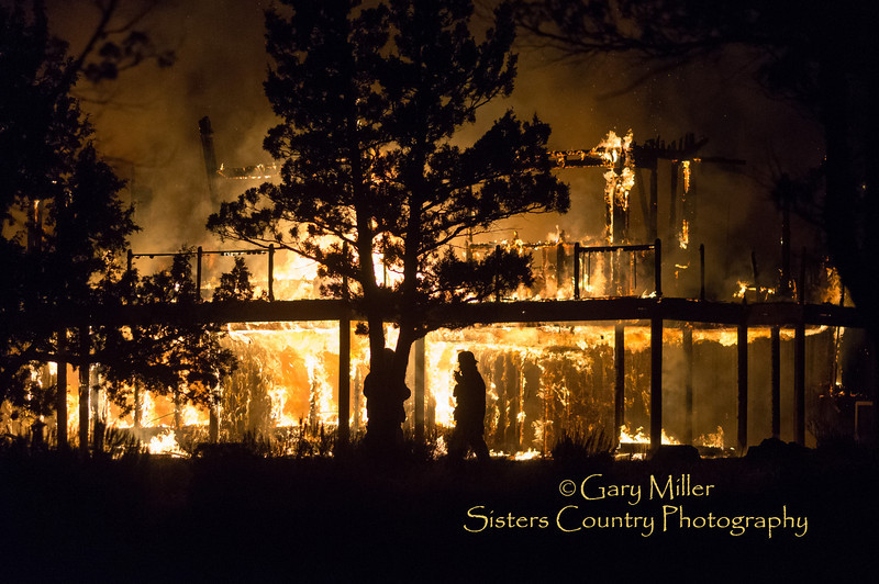 A rural 2-story residence located on Warrin Rd. burned to the ground under suspicious circumstances  on October 26, 2012. The home was located on a remote acreage in the Fryrear Rd. area between Sisters and Bend Oregon. Gary N. Miller - Sisters Country Photography