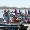 Anglers compete during a fishing tournament at Newton Lake on Friday. Graham Milldrum photo