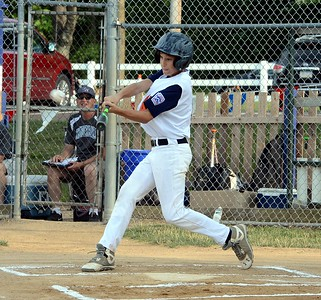 Northampton's Shane Dawson rips two-run home run in first inning.