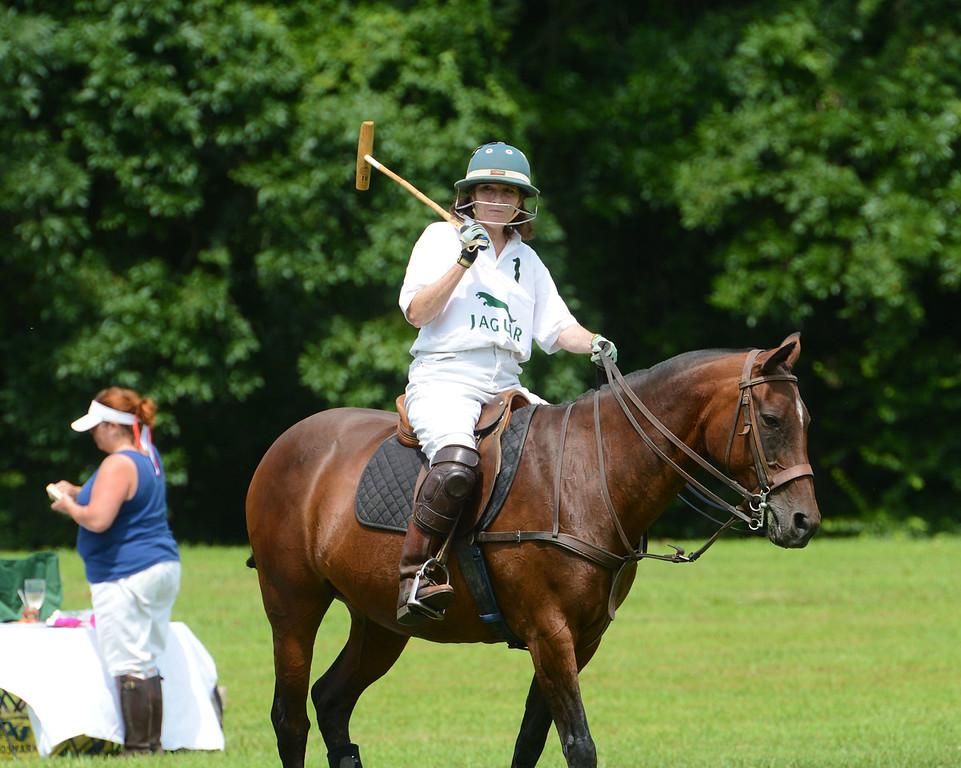 . Victoria Halliday rides into battle.