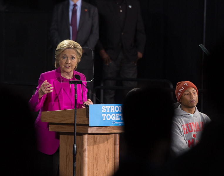 Hillary Clinton and Pharell Williams