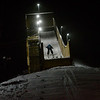 KRISTOPHER RADDER — BRATTLEBORO REFORMER<br /> The next generation of ski jumpers practice their skill on a jump at Living Memorial Park on Tuesday, Feb. 11, 2020.