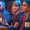 Kapil Jagtiani, Marketing Director at TIAA (right), speaks alongside his fellow panelists at the NextGenCLT:Pivot event held at Olde Mecklenburg Brewery.