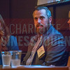 Josh Costner, Managing Partner, Costner Law Firm (center) speaks alongside his fellow panelists at the NextGenCLT:Pivot event held at Olde Mecklenburg Brewery.