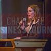 Jocelyn Ruark, Marketing Manager at Olde Mecklenburg Brewery, helps kick off the NextGenCLT:Pivot event.