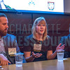 Cadie Jessup, Strategy Consultant at Wells Fargo (center), speaks alongside her fellow panelists at the NextGenCLT:Pivot event held at Olde Mecklenburg Brewery.