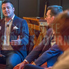 Bryan DeLaney, Cofounder at Skookum, moderates the NextGen panel discussion at Olde Mecklenburg Brewery.