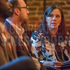 Jeanette Kuda, Vice President at LPL Financial (right), moderator at Charlotte Business Journal's NextGen event, held at Olde Mecklenburg Brewery.