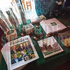 UNC- Charlotte's Belk College of Business booth at Charlotte Business Journal's NextGen event, held at Olde Mecklenburg Brewery.