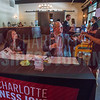 Registration table at Charlotte Business Journal's NextGen event, held at Olde Mecklenburg Brewery