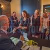 Registration table at Charlotte Business Journal's NextGen event, held at Olde Mecklenburg Brewery