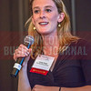 Jocelyn Ruark, Marketing Manager at Olde Mecklenburg Brewery, speaks before Charlotte Business Journal's NextGen event.