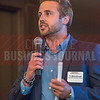 TJ McCullough, Advertising Director at  Charlotte Business Journal, kicks off Charlotte Business Journal's NextGen event, held at Olde Mecklenburg Brewery.