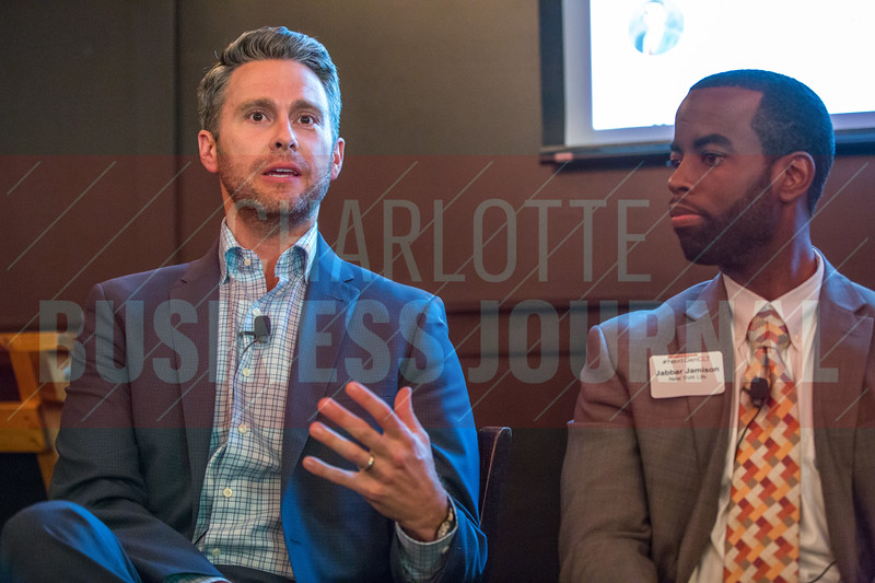 Court Creeden, Founder at Parent Financial, panelist at Charlotte Business Journal's NextGen event, held at Olde Mecklenburg Brewery.