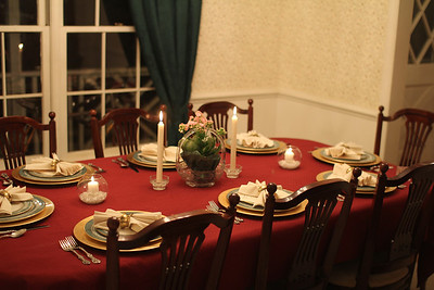 table setting for Dave's Italian Dinner 2/12