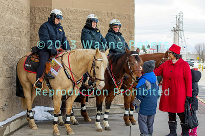 NCSO Mounted Patrol's annual Mounted for Meals Food Drive at the Lockport Walmart, March 23, 2013