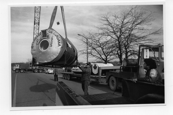 Munday Barrell - James Neiss Photo being moved from old Barrell Museum.