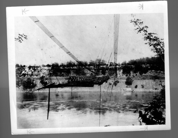 1864 Lewiston Bridge Wreckage.