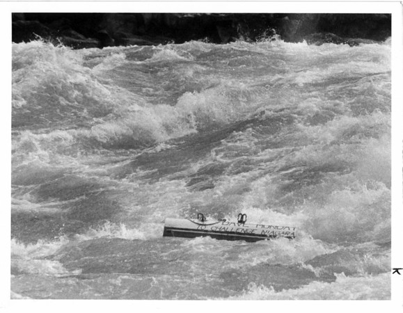 Niagara River, Stunters, Dave Munday - Lisa Massey Photo Oct, 12 1987