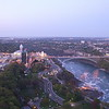 Niagara Falls Border Crossing Bridge ~ view from top of Skylon Tower