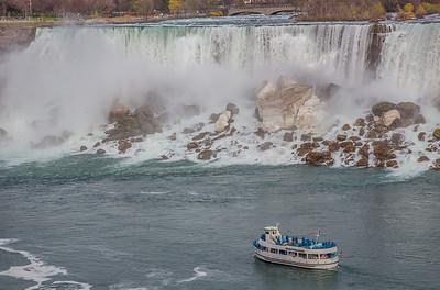 American Falls, Niagara Falls, NY USA (view from Niagara Falls, Ontario, Canada)