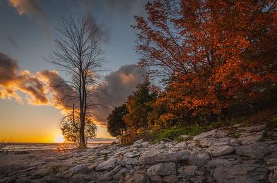 Fall Sunset at Morgan's Point - Wainfleet