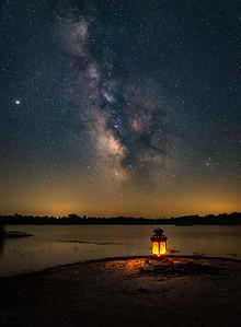 Night Sky at Wainfleet Wetlands - Wainfleet