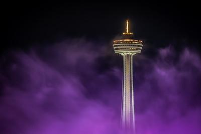 Skylon Tower in Mist - Niagara Falls