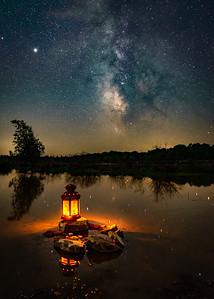 Milky Way over Wainfleet Wetlands Conservation Area - Wainfleet
