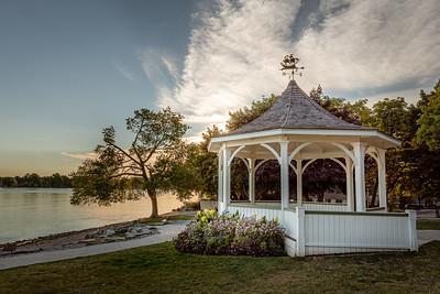 Early Morning at the Queen's Royal Park Gazebo - Niagara-On-The-Lake