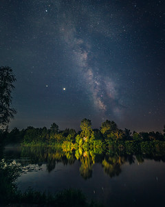 Milky Way over the Welland River - Welland