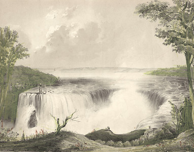 A View from the High-land British Side of Niagara Falls
