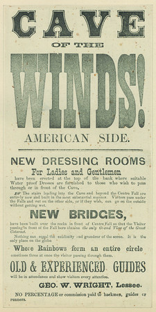 Cave of the Winds. Advertisement