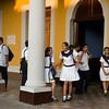 Teenagers getting out of school, Granada, Nicaragua