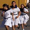Girls in running during school exercise class, Granada, Nicaragua