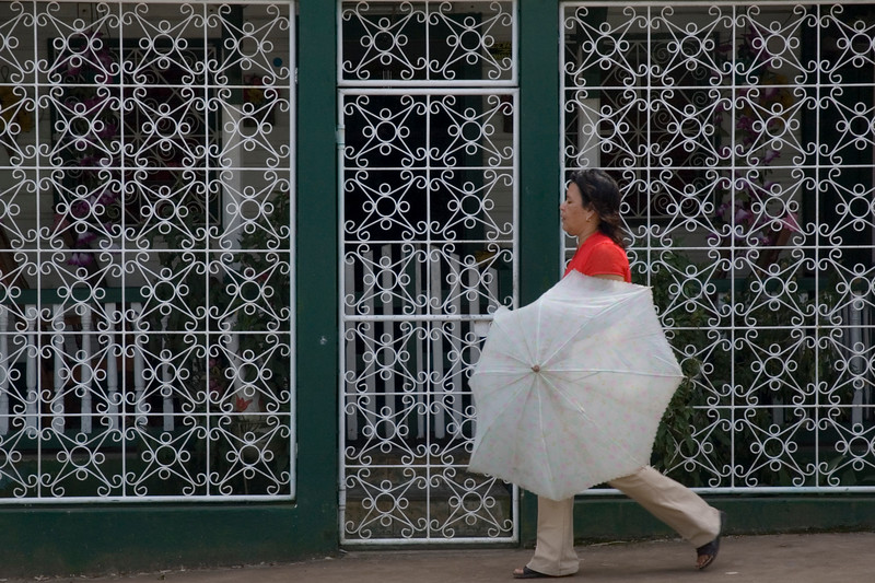 Woman walking, Bluefields, Nicaragua.