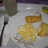 This was the breakfast I got - per MY request (I'm SOOO NOT a rice & beans kinda gal & I LOVE fried cheese & scrambled eggs!). Trust me, you'd get your Gallo Pinto!!