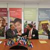 PADF signs MOU with AmCham Nicaragua. In attendance from AmCham: Roberto Sansón Caldera, (President); Dionisio Cuadra, (Vicepresident); Yalí Molina Palacios. (Former President of AmCham); Avil Ramírez (Executive Director).