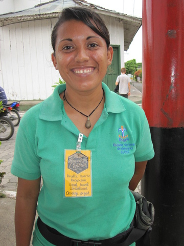 """EXTRAORDINAIRE TOUR GUIDE - Arcelia Duarte with """"Ometepe Unique Tours"""" - the first Female Tour Guide on Isla Ometepe, Nicaragua 8205-6190-Cl  •  7526-1760-Ms http://OmetepeUniqueTours.com  •  https://facebook.com/OmetepeUniqueTours   Arcelia Duarte - the founder of Ometepe Unique Tours (former partner of Secret Adventure Tours) - is the first (and to this day one of the few legal) LICENSED Female Tour Guides on Ometepe Island, Nicaragua!  PLEASE send her my love - from Vicki!  Our associates bring you a higher consciousness to strengthen SUSTAINABLE RURAL TOURISM through the offering of packages mainly to local sites that are rarely explored.  We use a technical and scientific approach that complements  ADVENTURE TOURISM, ECOTOURISM and AGROTOURISM (centered to stand out) while providing the highest level of knowledge, Customer Service that you are used to, security and satisfaction to you our guests.   OUR VISION: To play a leading role in the development of SUSTAINABLE RURAL TOURISM on the Island of Ometepe, Nicaragua and to be recognized at an international level for offering packages that are unique, high quality and different from what others have to offer. We want to be the best at what we do because we love what we do!!  (when you use the word """"job"""" - MOST people have a negative feeling on """"jobs"""" because they don't like theirs!)   (THIS WOULD BE A GREAT PLACE TO HAVE A FABULOUS PICTURE OF YOU - I LOVE this pic as you look so welcoming & excited with a touch of sexy while having a badge on looking official-ish - http://www.saronggoddess.com/Nicaragua1a/Ometepe1/OmetepeUniqueToursArcelia/i-vXhLqC5 - work it girl!!) ARCELIA'S STORY: Arcelia was born on the island of Ometepe, Nicaragua in 1988 but grew up in Granada.    It was her love of the nature on her mother island that called her back to Isla Ometepe and inspired her to become a tour guide and she has the distinction of being the FIRST CERTIFIED FEMALE TOUR GUIDE on Isla Ometepe and to this day - one of the"""