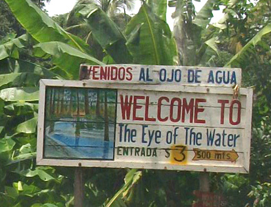 "OJO DE AGUA Enjoy a refreshing dip in the healthy Ojo de Agua (""Eye of the Water""), a river of clear water with medicinal properties that rejuvenate your skin!!  http://facebook.com/OjoDeAguaOmetepe  /  http://OjoDeAguaOmetepe.com"