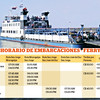 "This is the schedule for the 3 BIG Vehicle Ferry's (ESPECIALLY in the high winds season which can be as early as December till as late as March when you ESPECIALLY might not want to be going on the small boats as it can be VERY SCARY!!!!  <br /> <a href=""http://Facebook.com/ConoceOmetepe"">http://Facebook.com/ConoceOmetepe</a><br /> <a href=""http://ConoceOmetepe.com"">http://ConoceOmetepe.com</a>"