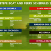 "FERRY BOAT SCHEDULE for the boats from San Jorge to ISLA OMETEPE<br /> <br /> (SOURCE: the new website for MY FAV TOUR GUIDE FOR OMETEPE & an EXTRAORDINAIRE TOUR GUIDE - Arcelia Duarte with ""Ometepe Unique Tours"" - the first Female Tour Guide on Isla Ometepe, Nicaragua<br /> <br /> <br />  <a href=""http://OmetepeSecretAdventures.nicaturismo.com/Ometepe%20Boat%20and%20Ferry%20Schedules.html"">http://OmetepeSecretAdventures.nicaturismo.com/Ometepe%20Boat%20and%20Ferry%20Schedules.html</a>"