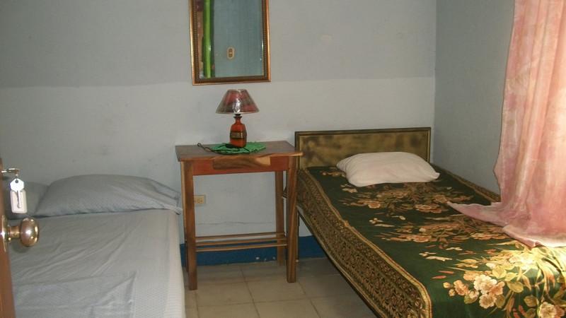 #6 - Room furthest in the back at REBECCA'S INN - San Juan del Sur, Nicaragua  D/T.  Shared Bathroom (outside).  Fan.
