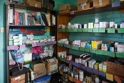 The pharmacy at the FIMRC clinic.