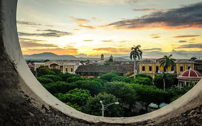 Granada at sunset.