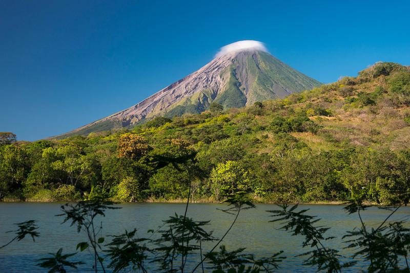Concepcion Volcano and Charco Verde lagoon, Ometepe, Nicaragua