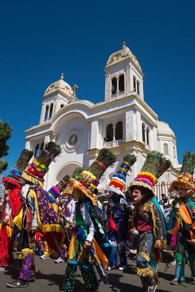 Costumed dancers at the Feast of Saint Sebastian, Diriamba, Nicaragua